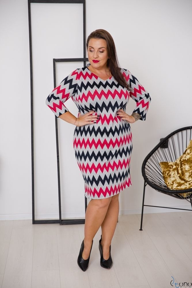 Sukienka DAFNY Plus Size Wzór 8