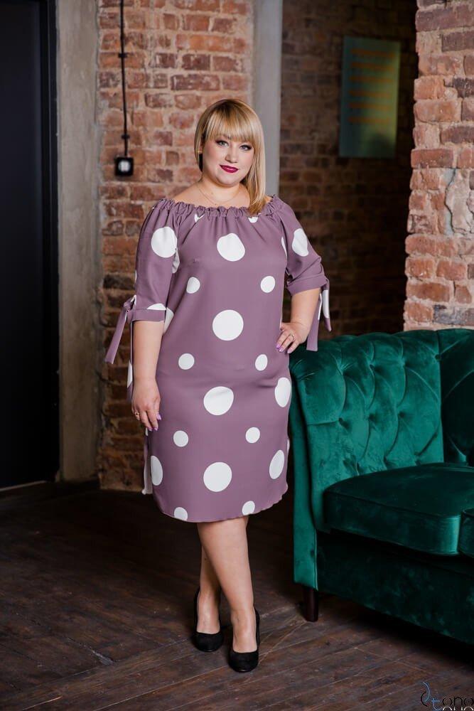 Sukienka DROPPEA Cappuccino Plus Size
