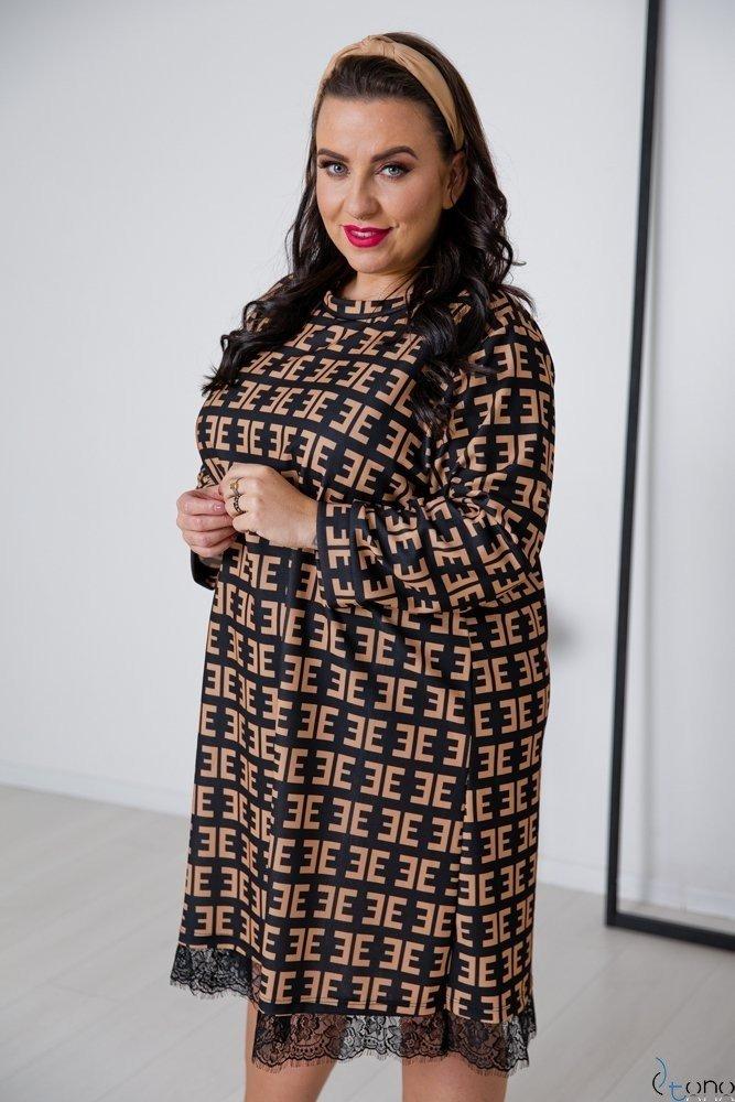 Sukienka FORCY Plus Size Wzór 1