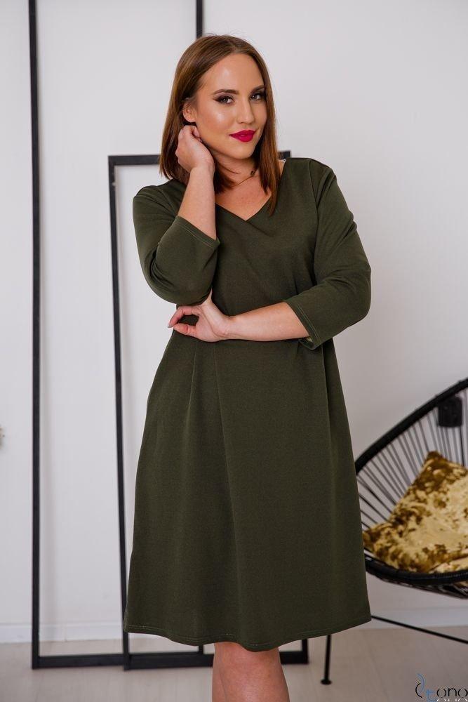 Sukienka HIERRA Plus Size Khaki