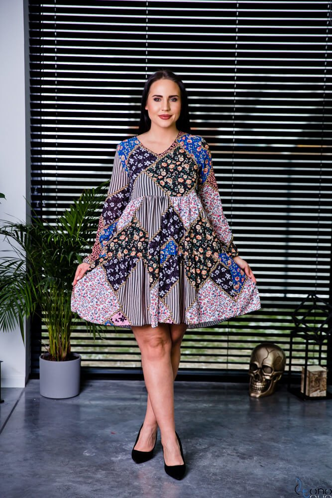 Sukienka JACKY Plus Size wzór 1