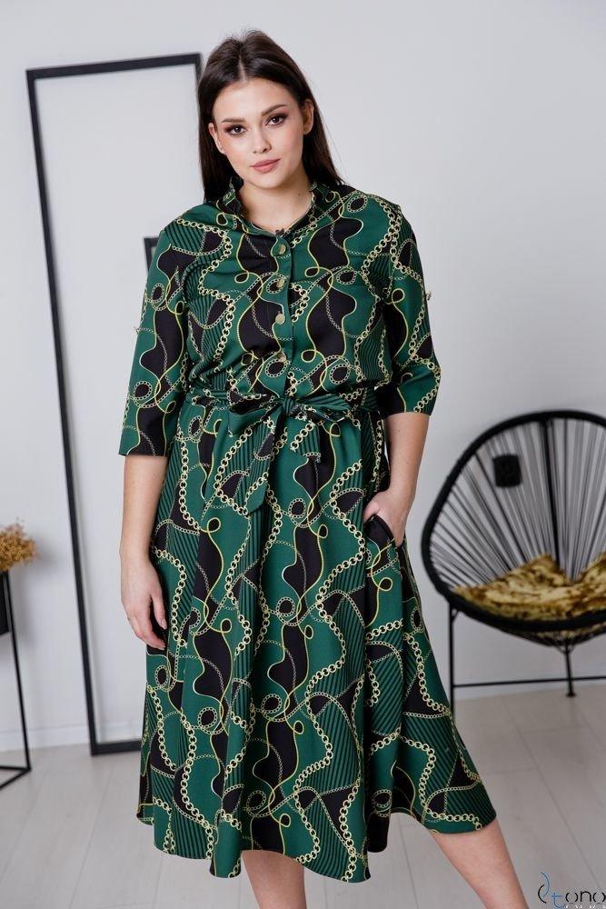 Sukienka RAVELA Plus Size Wzór 5