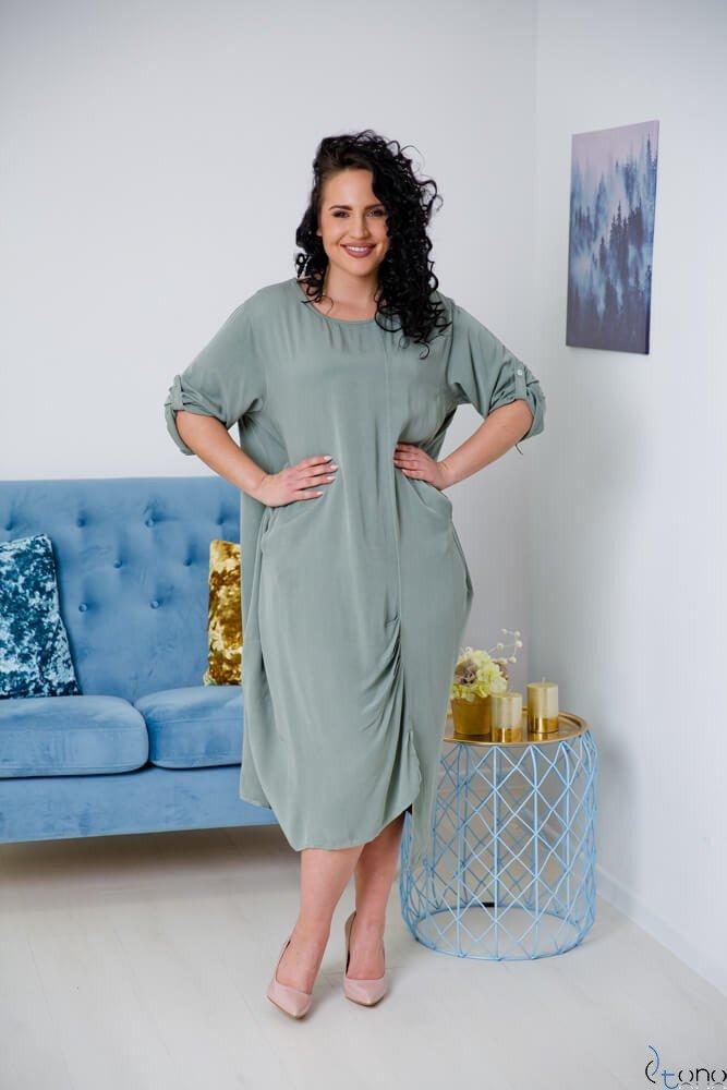 Sukienka SAJANA Khaki Plus Size