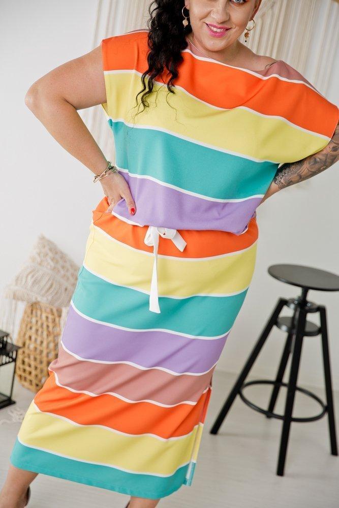Sukienka SEVA Plus Size Wzór 2
