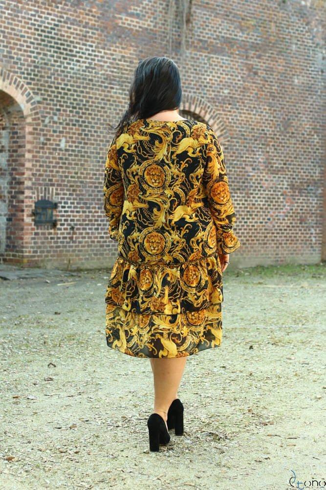 Sukienka SIBILLA Plus Size Szyfon Wzór 3
