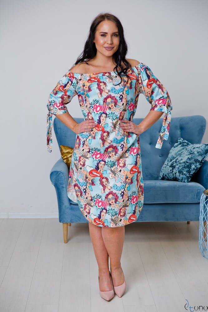 Sukienka SOPRANA Plus Size Wzór 2