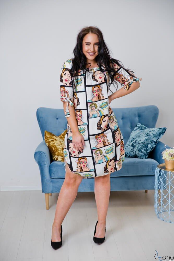 Sukienka SOPRANA Plus Size Wzór 6