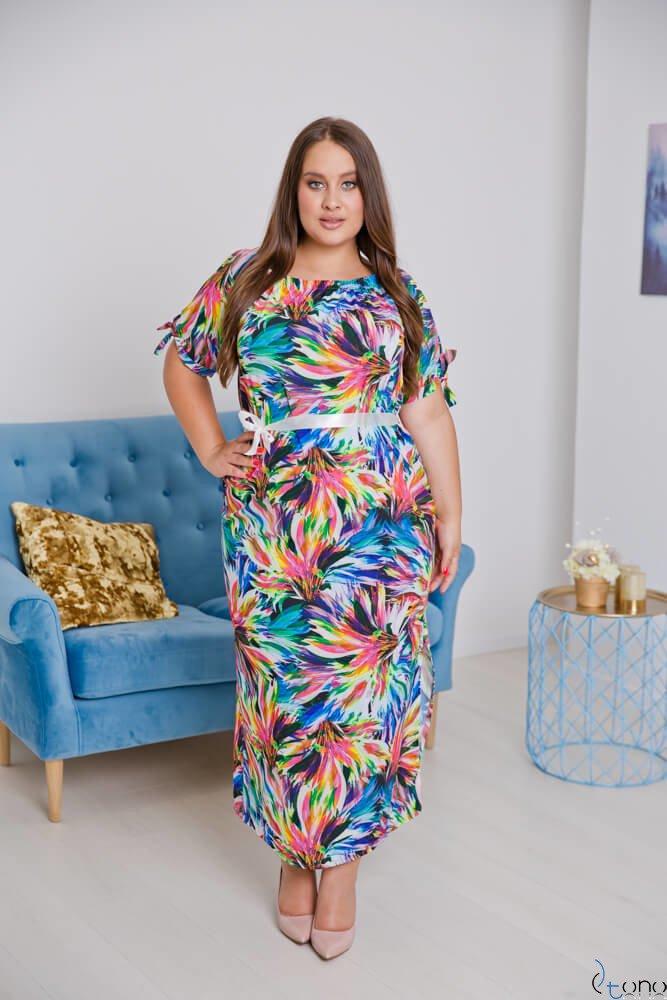 Sukienka TROPICANA Plus Size Wzór 7