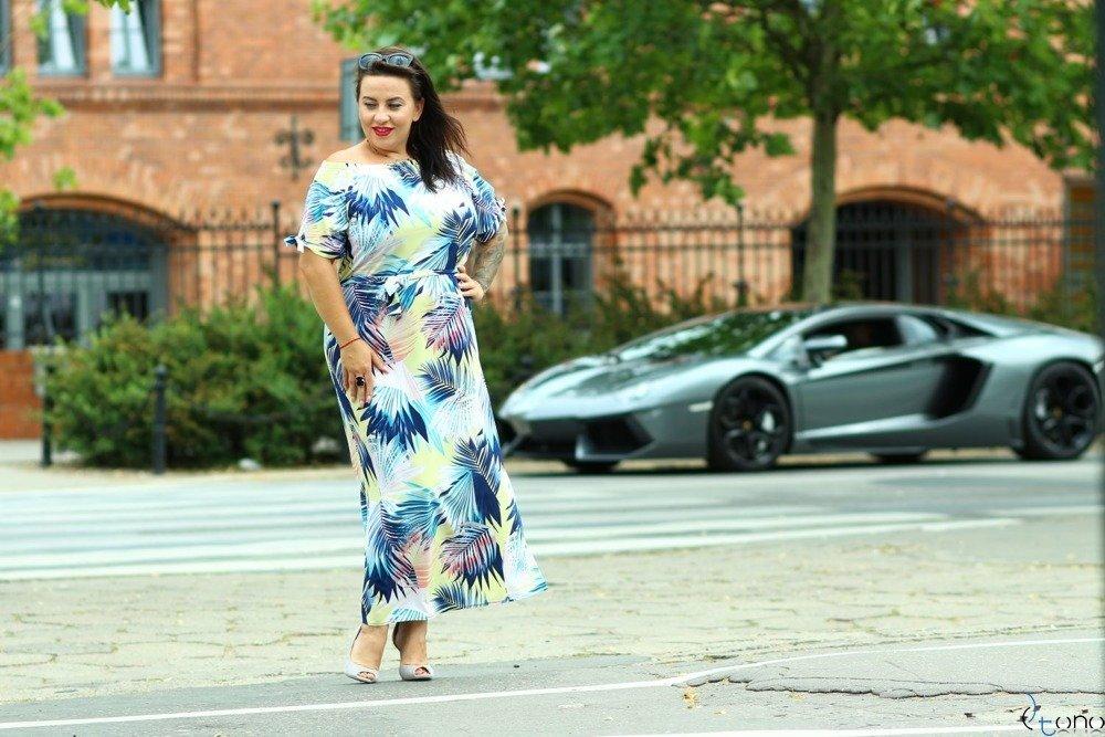 Sukienka TROPICANA Plus Size Wzór 8
