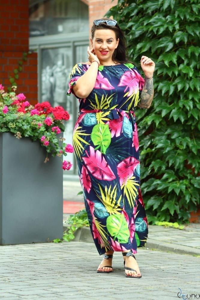 Sukienka TROPICANA Plus Size Wzór 9