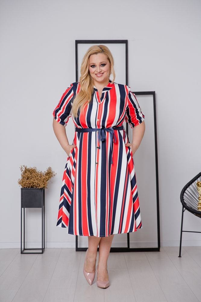 Sukienka VERTIGO Plus Size Wzór 4