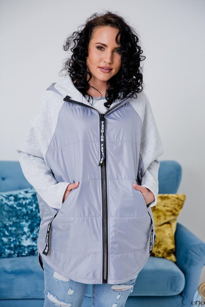 Szara Bluza MOLIER Plus Size