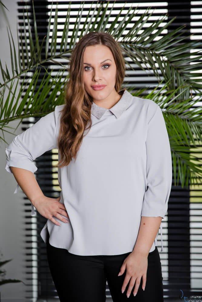 Szara Bluzka ROTTA Plus Size