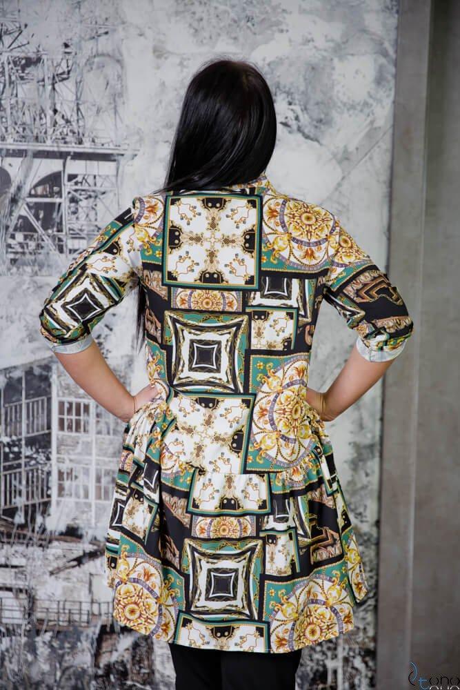 Tunika KAFTA Plus Size Koszulowa Wzór 4