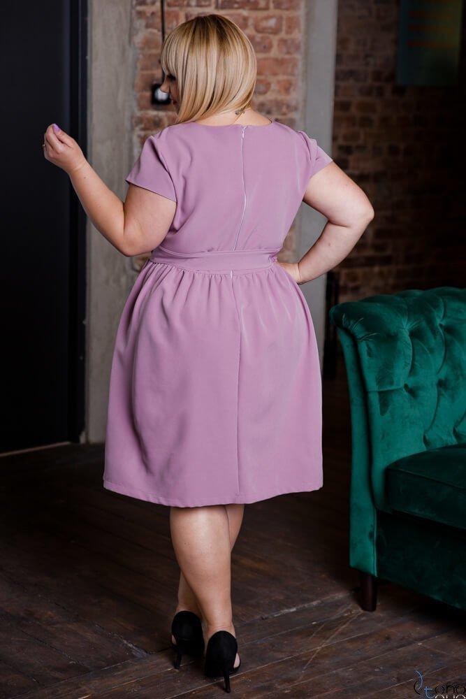Wrzosowa Sukienka MACARIS Plus Size