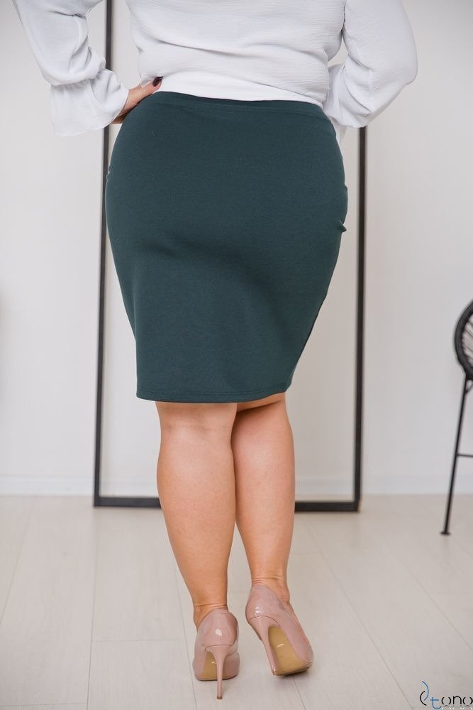 Zielona Spódnica PILAR Plus Size