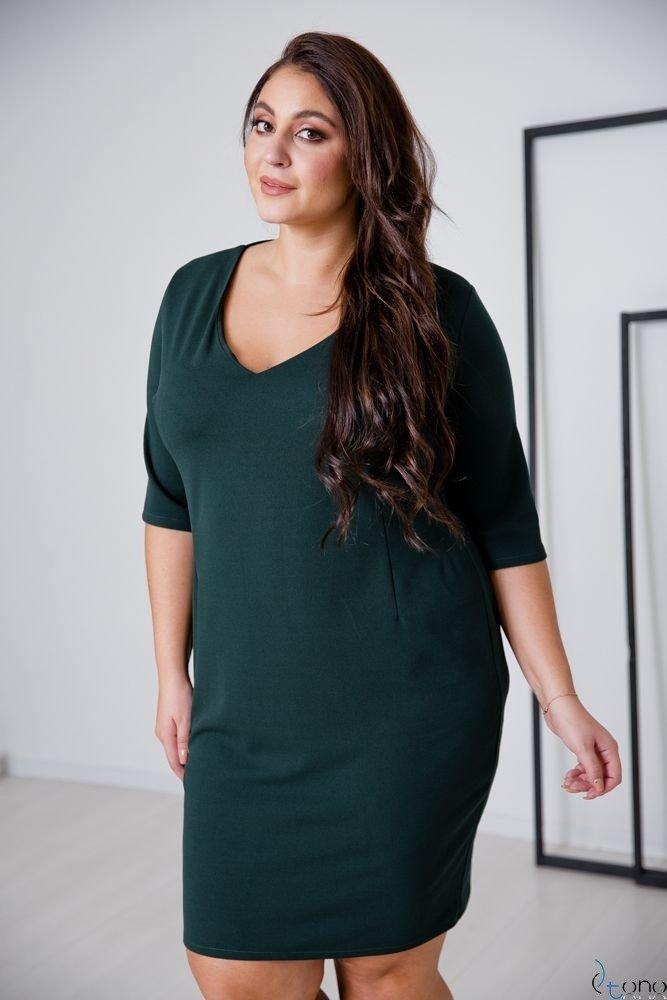 Zielona Sukienka AZURRA Plus Size