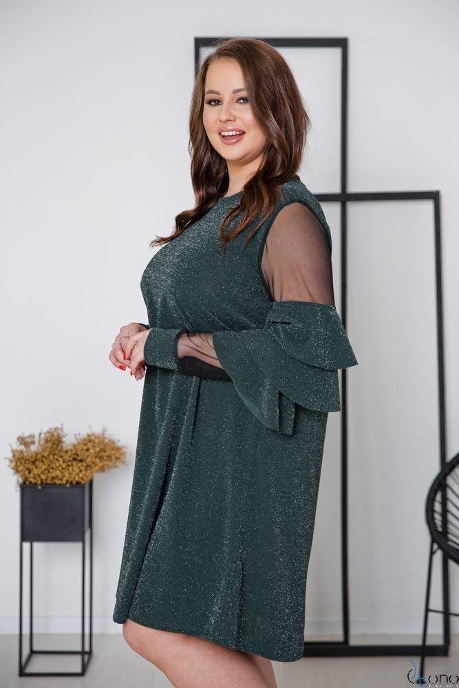 Zielona Sukienka CATIVA Plus Size