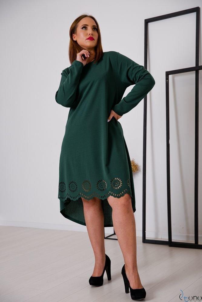 Zielona Sukienka FANTRINA Plus Size