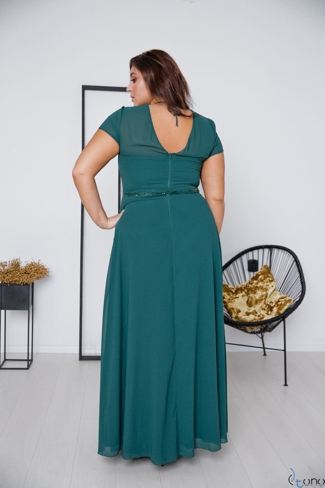 Zielona Sukienka FORTALES Plus Size
