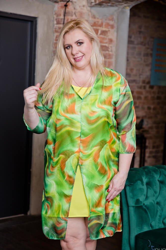 Zielona Sukienka REGINA Plus Size