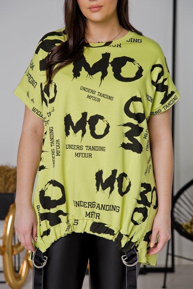 Zielona Tunika MOMO Plus Size