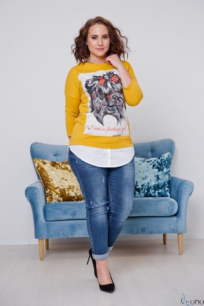 Żółta Bluzka FORTIVA Plus Size