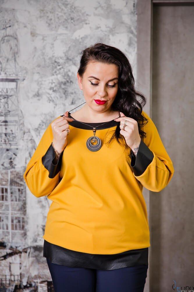Żółta Bluzka MERRIDA Plus Size