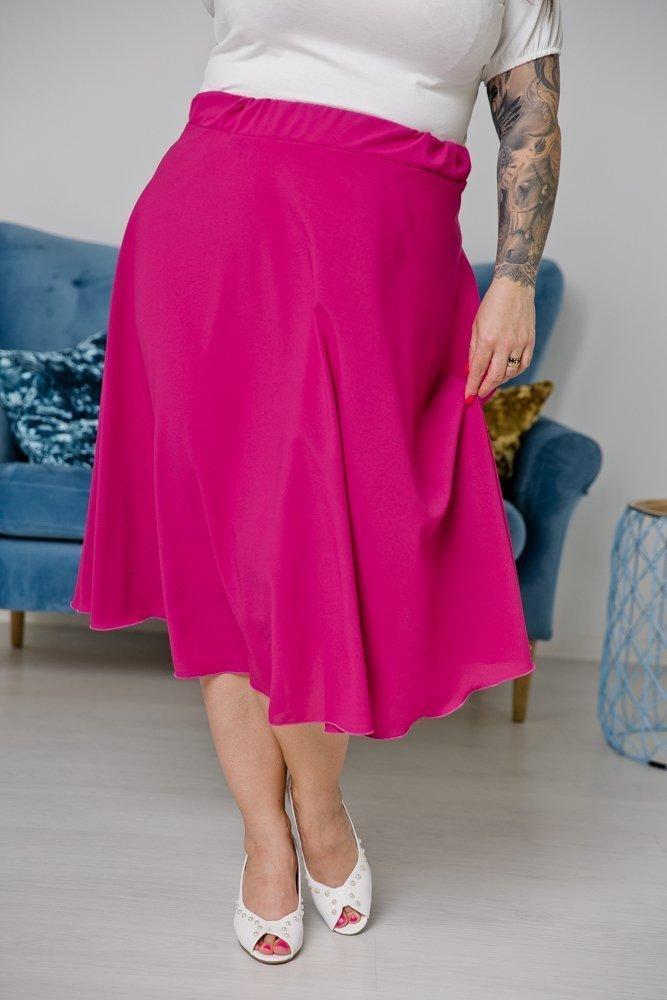 Amarantowa Spódnica TONNA Plus Size