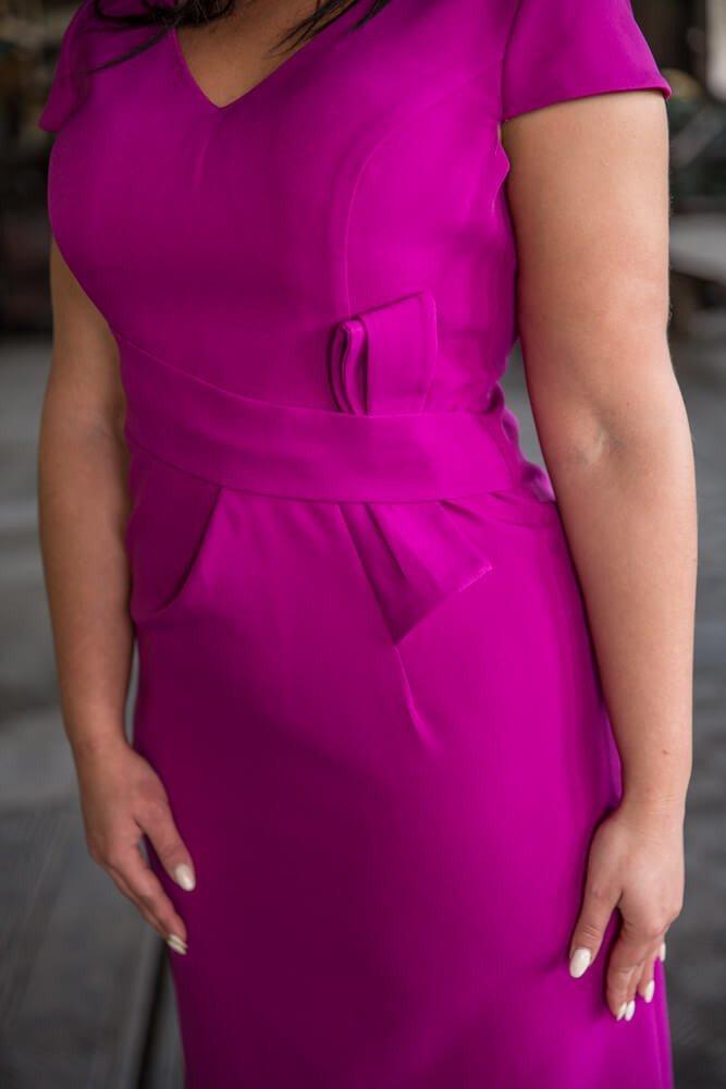 Amarantowa Sukienka GIANNA Plus Size