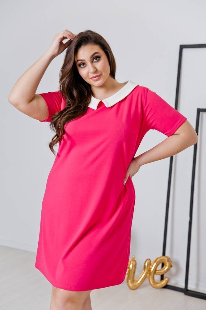 Amarantowa Sukienka VIRGO Plus Size