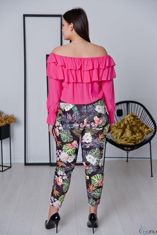 Amarantowa bluzka BASTIA Plus Size