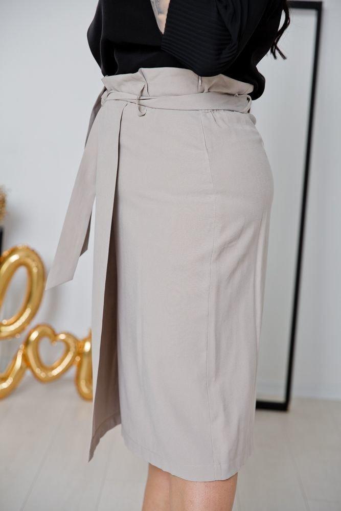 Beżowa Spódnica DEZERTA Plus Size