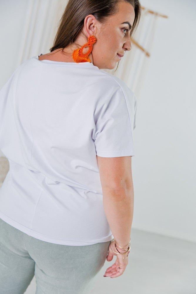Biała Bluzka MINIE Plus Size Wzór 1