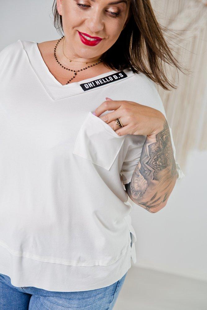 Biała Bluzka NATURE Plus Size
