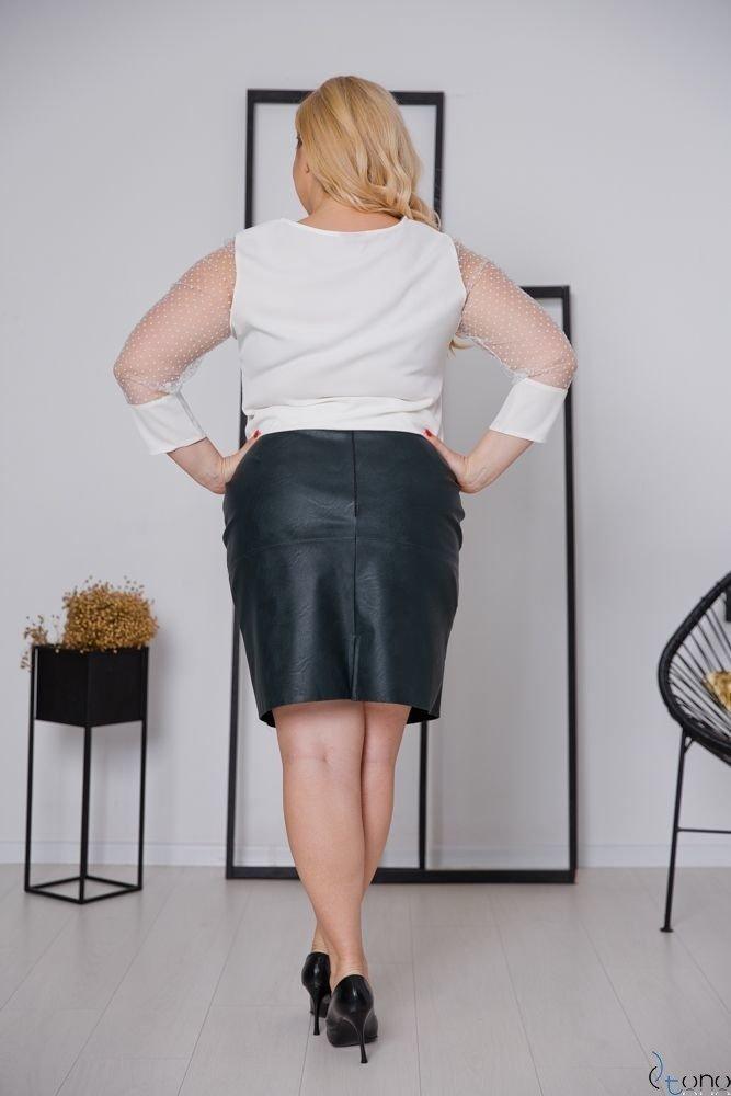 Biała Bluzka SEVERIA Plus Size