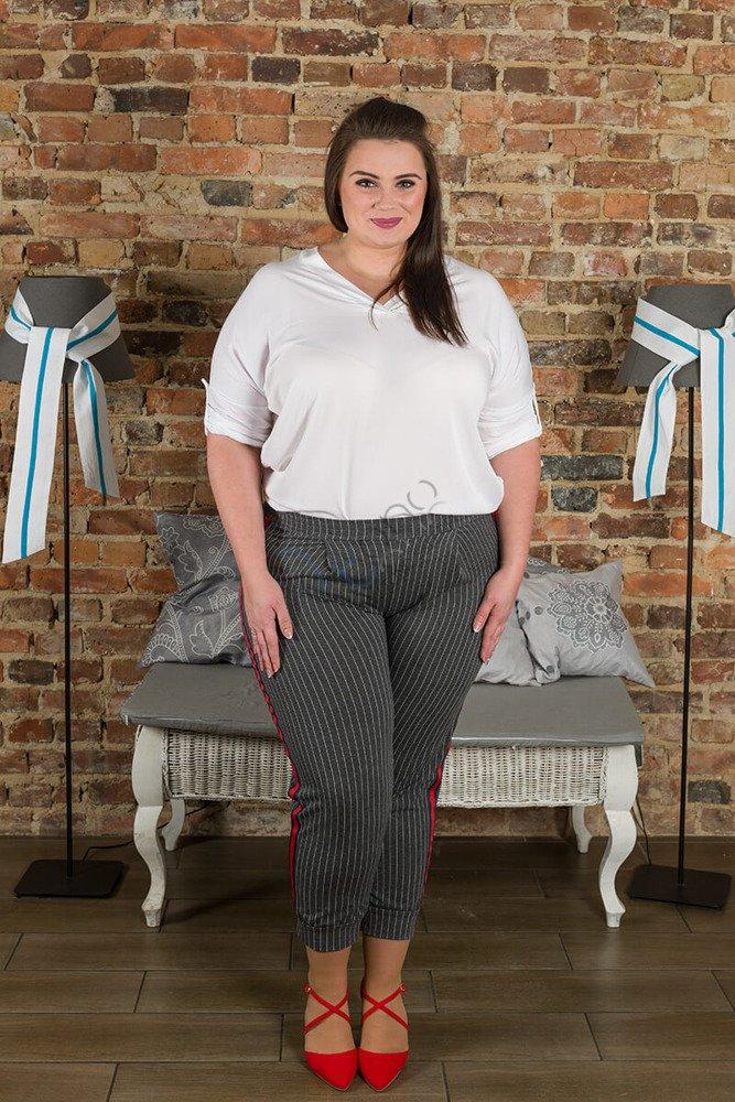 Biała Bluzka damska COLOMBA Kimono Plus Size