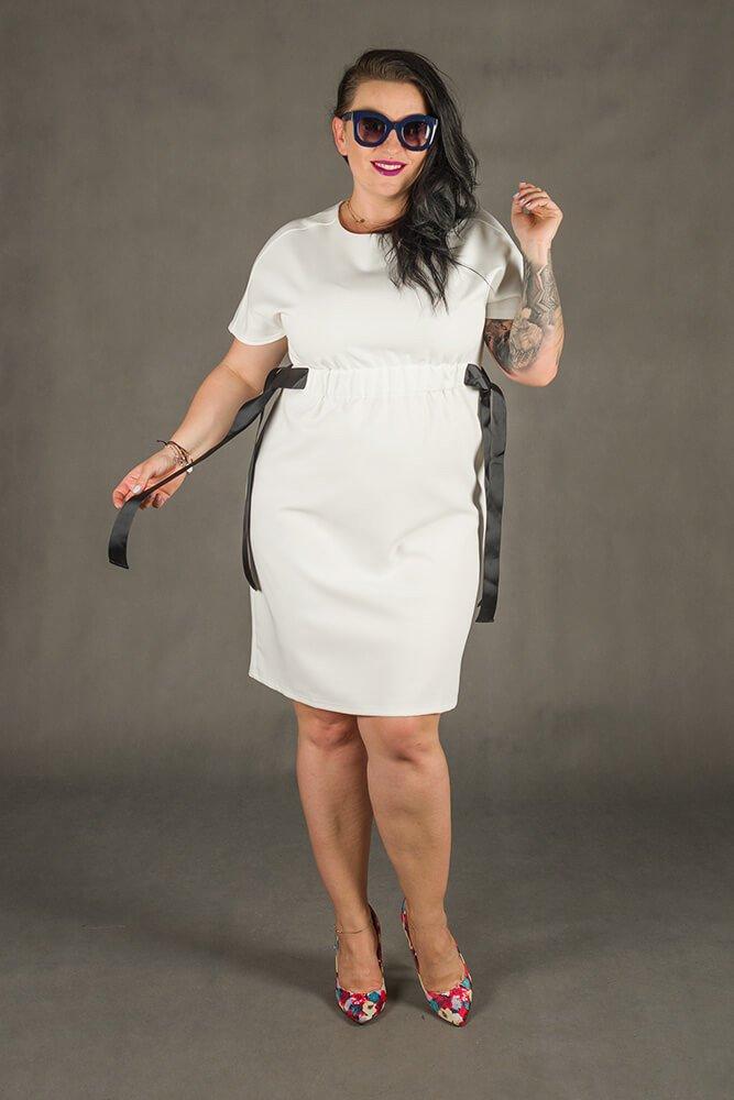 Biała Sukienka MARIETTA Plus Size