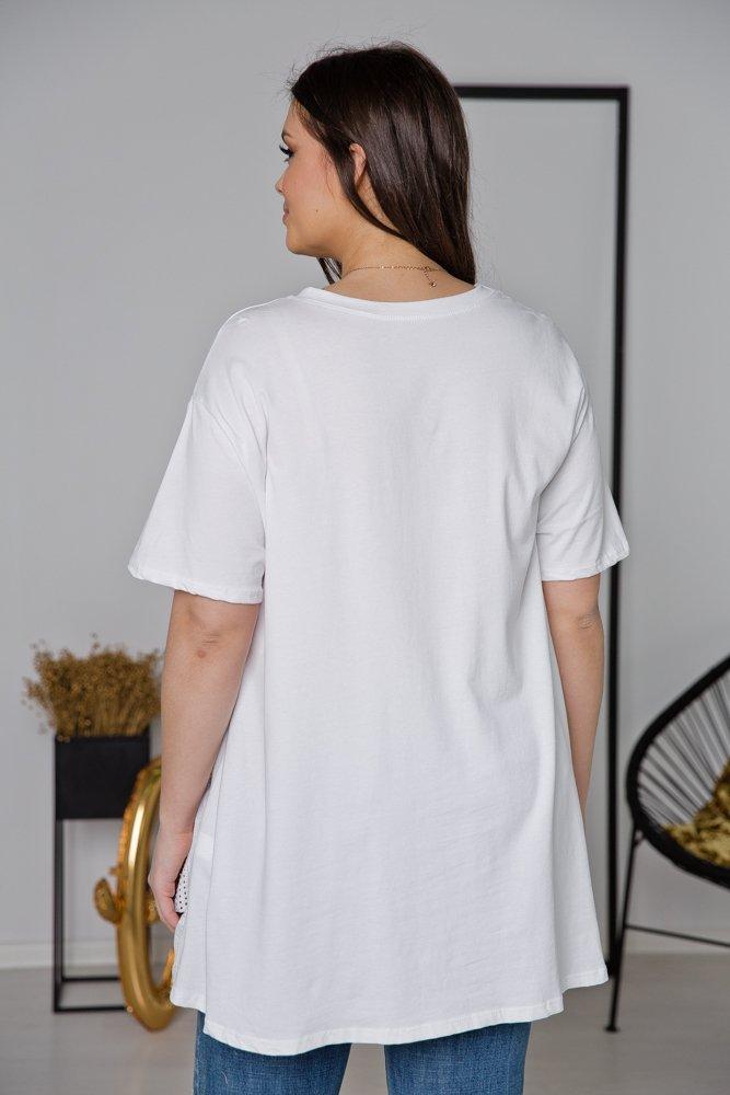 Biała Tunika ALMETIA Plus Size
