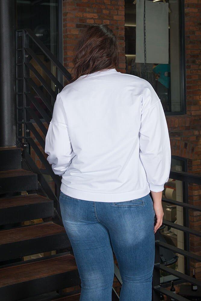 Biała bluza damska SUPER PLUS SIZE