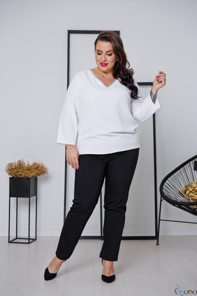 Biało-Złota Bluzka LAVYA Plus Size