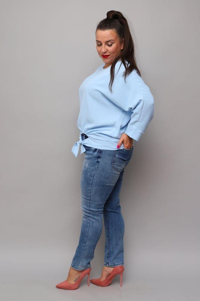 Błękitna Bluzka PANEA Plus Size
