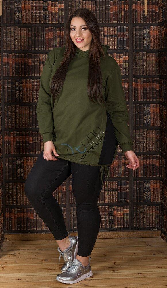 Bluza damska SYLVANA Casual Plus Size Khaki