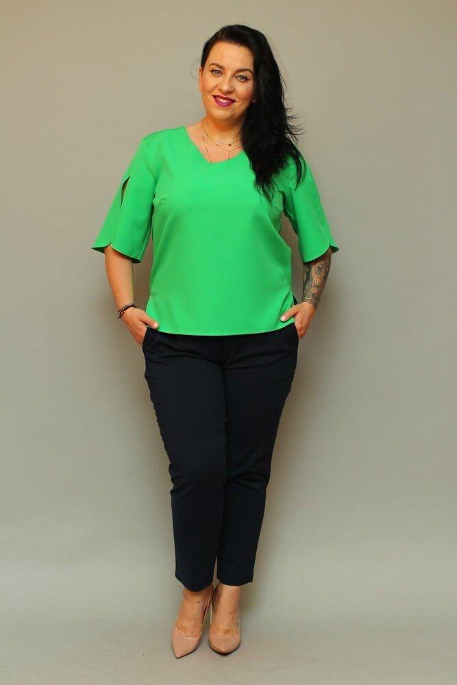 Bluzka LUSSY Plus Size Zielona