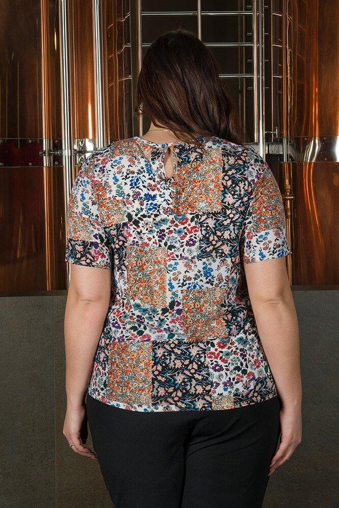 Bluzka damska ALINA duże rozmiary Koszulowa Wzór 1
