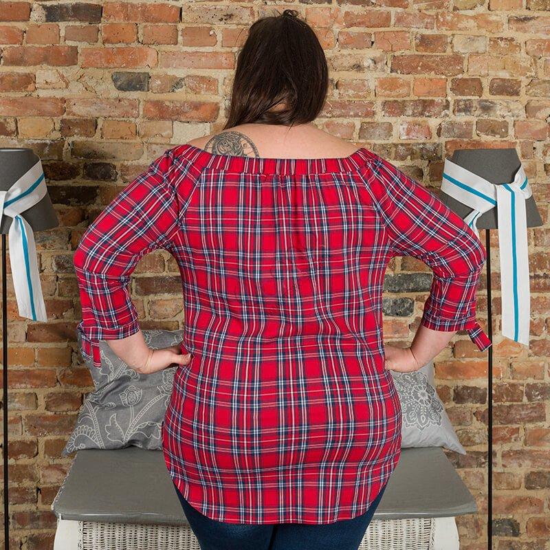Bluzka damska CAMISA Hiszpanka Krata Size Plus