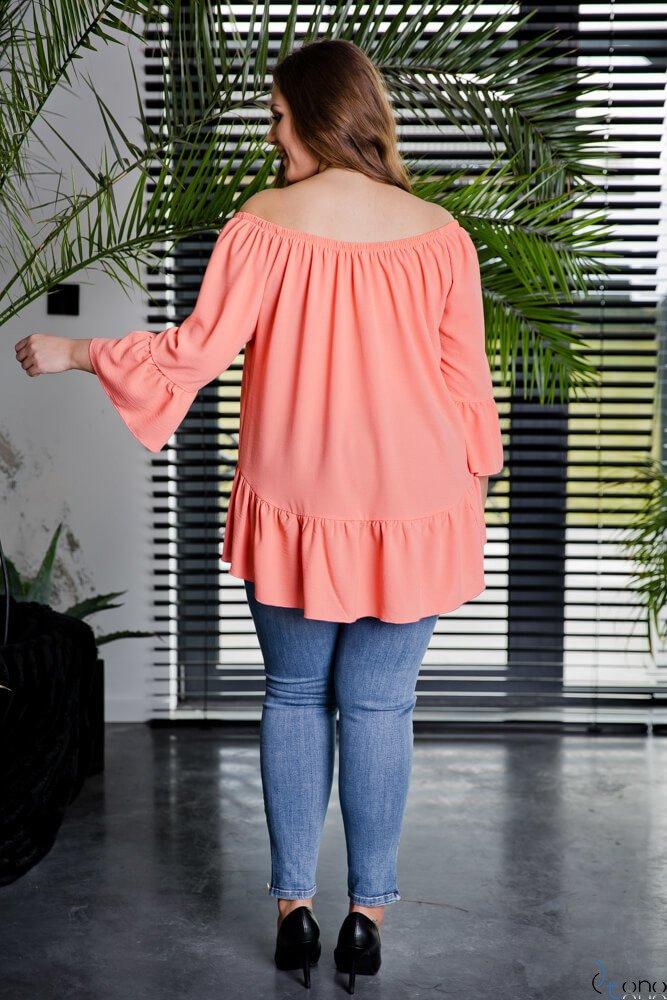 Brzoskwiniowa Bluzka CARLITA Plus Size