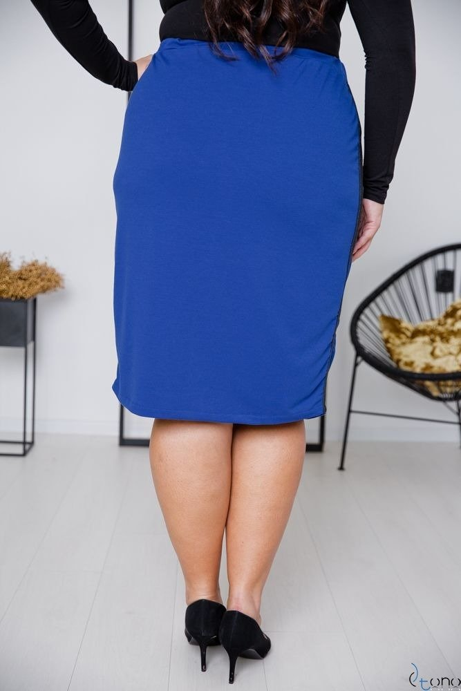 Chabrowa Spódnica ADELLA Plus Size