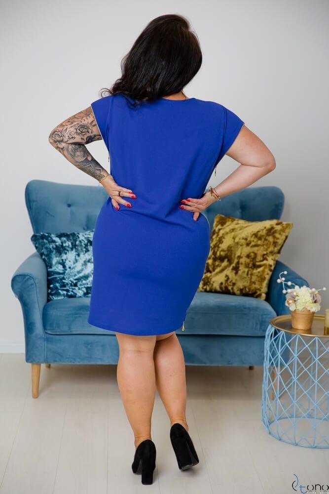 Chabrowa Sukienka CARBONA Plus Size