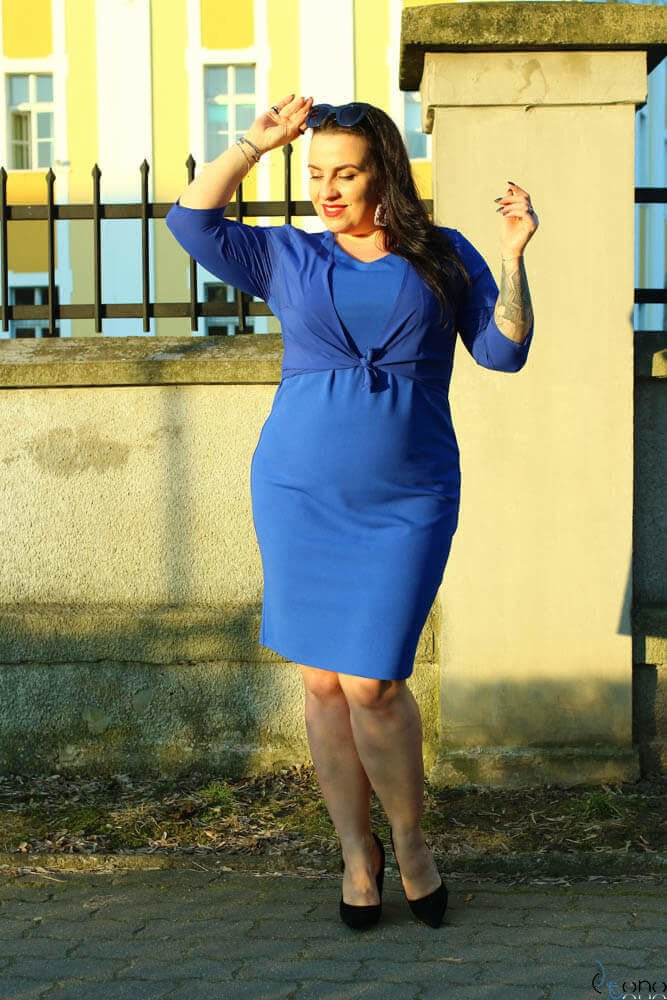 Chabrowa Sukienka DEVINA Plus Size